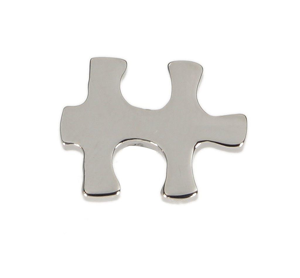 Mens Lapel Pin Tie Tie Tie Tack Silver Puzzle Piece Emblem 8f875e