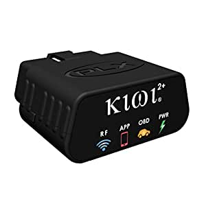 PLX Devices Kiwi 2+ Bluetooth OBD2 OBDII Car to Smartphone Wireless Link and Scan Tool for Android, Windows, Symbian, Linux and N9.