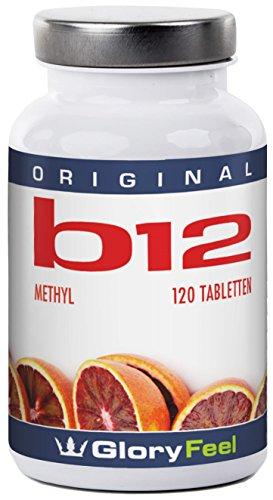 Vitamin B12 Methylcobalamin 1000µg - 120 vegane Tabletten - Hochdosierter Vitamin B12-Komplex mit 1000 µg Mehyl B-12 pro Lutschtablette - Premiumqualität Deutscher Herstellung