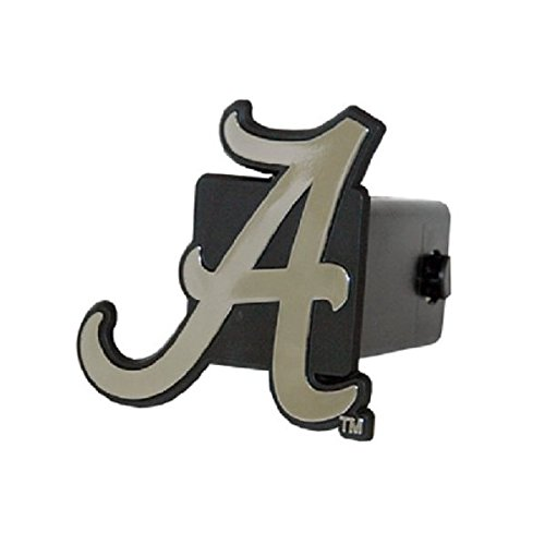 Alabama Crimson Tide Silver Trailer Hitch Cover