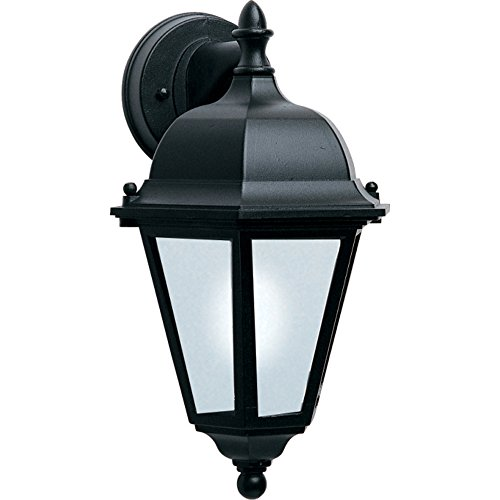 - Maxim 85100BK Westlake EE 1-Light Outdoor Wall Lantern, Black Finish, Frosted Glass, GU24 Fluorescent Fluorescent Bulb , 60W Max., Wet Safety Rating, Standard Dimmable, Glass Shade Material, 1344 Rated Lumens