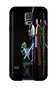 Galaxy S5 Hard Back With Bumper Silicone Gel Tpu Case Cover Star Wars Jedi Obi-wan Kenobi Light Side