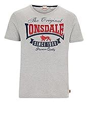 Lonsdale Men´s Regular Fit Premium T-shirt Logo Original Since 1960 Grey (Xx-large (2xl) Regular Fit)