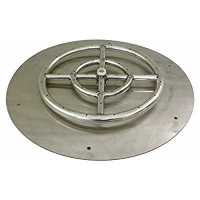 American Fireglass Round Stainless Steel Flat Fire Pit Burner Pan