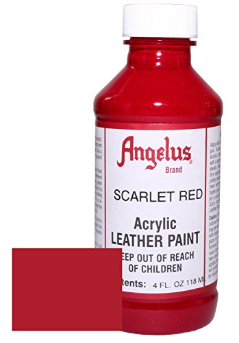 (Angelus Acrylic Leather Paint-4oz.-Scarlet Red)