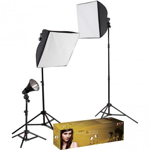 Photo Basics 403 uLite 3-Light Kit (Lighting Photoflood Kit Studio)