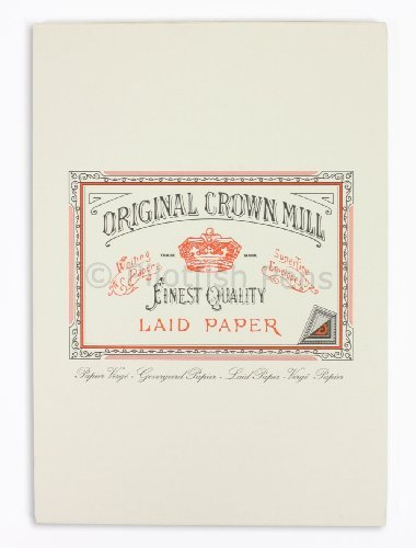 - Original Crown Mill A4 Classic Line Texture Laid Writing Pad - Cream (Pack of 50)