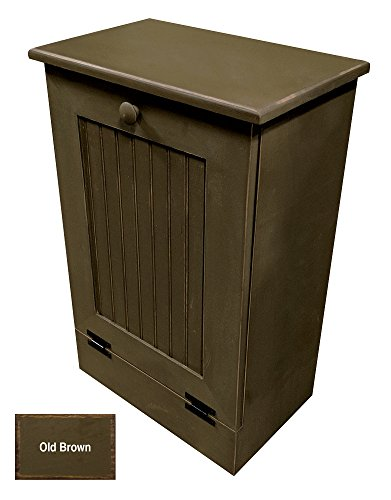 Wood Tilt-Out Trash Cabinet (Old - Brown) by Sawdust City