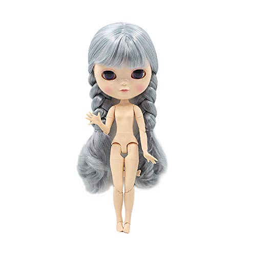 The 30.5cm ICY Nude Doll is The Same as Blythe Doll,can Change The faceplate and Clothes for DIY Maker,19 Joint Body Doll is Suitable for Girls Present and Best Gift. (COLORFUL3)