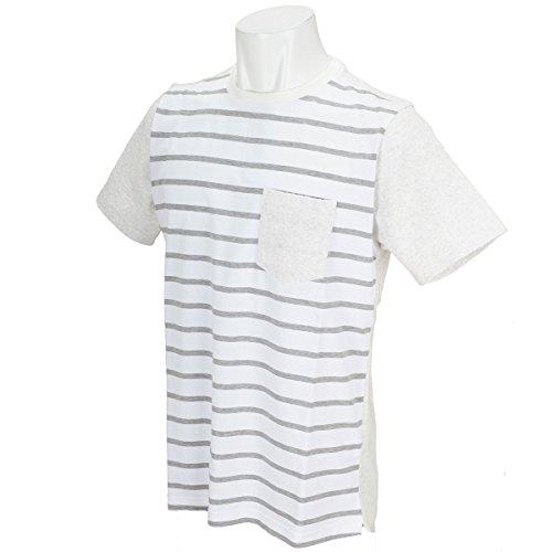 Charee Braver (チャーリーブレイバー) パイル切替 ボーダークルーネック Tシャツ 728715 (3(L), グレー)