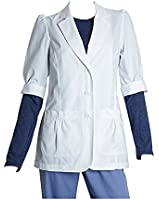 Lab Coats by Barco Uniforms Women's Short Sleeve 2 Pocket Lab Coat
