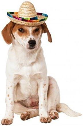 Multicolor sombrero de mascota Perro Cachorro disfraz mexicano de ...