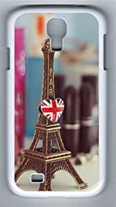 Eiffel Tower PC Case Cover for Samsung Galaxy S4 and Samsung Galaxy I9500 White