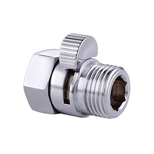 CRW Shower Head Shut-Off Valve Solid Brass Shower Head Flow Control