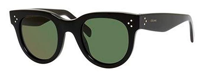 7ca24f14ecf Image Unavailable. Céline Baby Audrey Sunglasses CL 41053 S Black Grey Green
