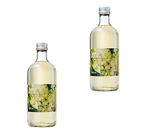 IKEA Elderflower Syrup - Sweet European Elderflower Fruit Juice - Drink Concentrate, 16.9 oz - Best For Mixing With Water, 2 -