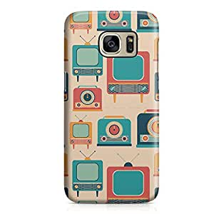 Samsung S7 Case Vintage Retro Pattern Telecast Light Weight Clear Edges Samsung S7 Cover Wrap Around