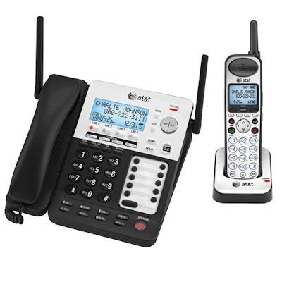 AT&T 4-Line SynJ Corded Cordless Small Business System with Extended Range and Automated Attendant (Phone Att Bundle)