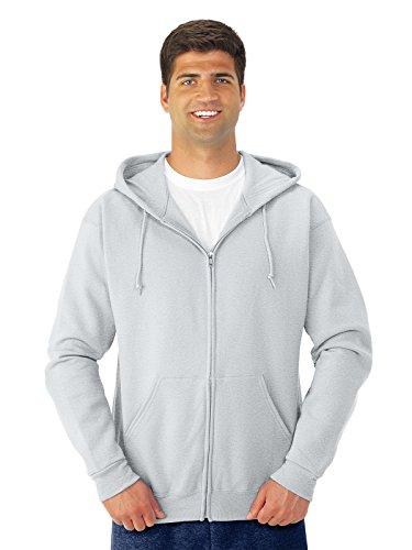 Jerzees 8 oz., 50/50 NuBlend Fleece Full-Zip Hood XL ASH by Jerzees