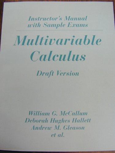 Multivariable Calculus Im & Sample Exams t/A: W G Mccallum