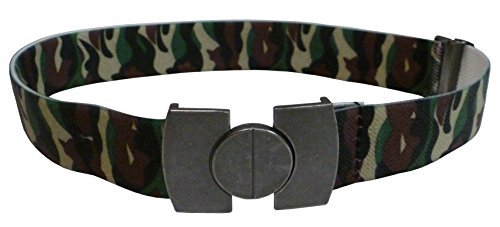 NIce Caps Boys and Girls Stretch Belts With Magnetic Buckle