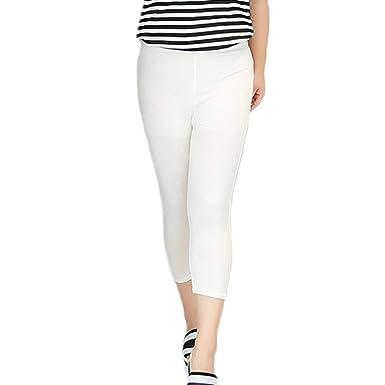 Mujer Leggings Suave Elástico Suave Costura Capri Transpirable ...