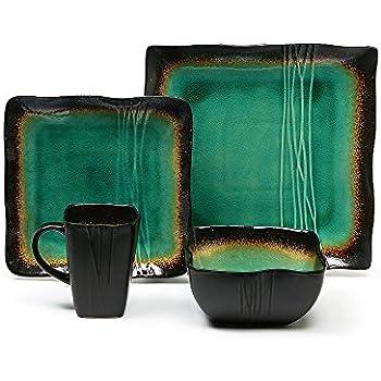Amazon.com | Better Homes and Gardens Jade 16-Piece Dinnerware Set ...