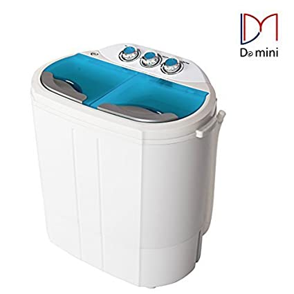 Do Mini Portable Compact Twin Tub 9.8Ibs Capacity Washing Machine And Washer  Spin Dryer