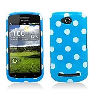 Bloutina Aimo COOL5860PCPD302 Trendy Polka Dot Hard Snap-On Protective Case for Coolpad Quattro 4G 5860e - Retail Packaging...
