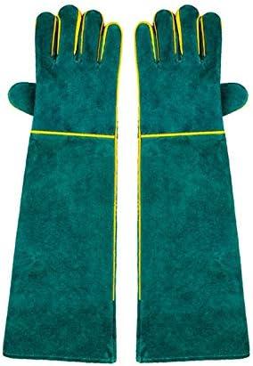 手袋 噛み付き防止手袋ペットトレーニング特別手袋厚くするロングデザインアンチグラブ/グリーン LMMSP