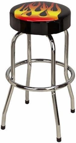 Flame Design Bar Counter Swivel Stool