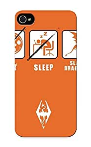 Iphone 5/5s Case Slim [ultra Fit] Eat Sleep Slay Dragons Protective Case Cover(best Gift Choice For Friends)