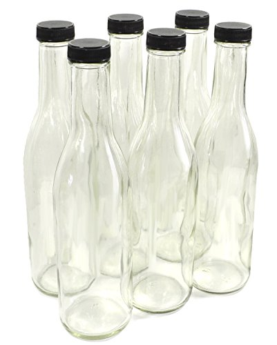 (Clear Glass Woozy Bottles, 12 Oz - Pack of 6)