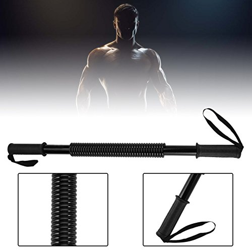 Power Twister Bar Heavy Duty 30kg Arm Forearms Chest Exercise Fitness Spring by CLKJYF