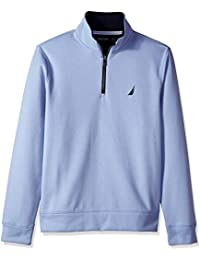 Men's Solid 1/4 Zip Fleece Sweatshirt