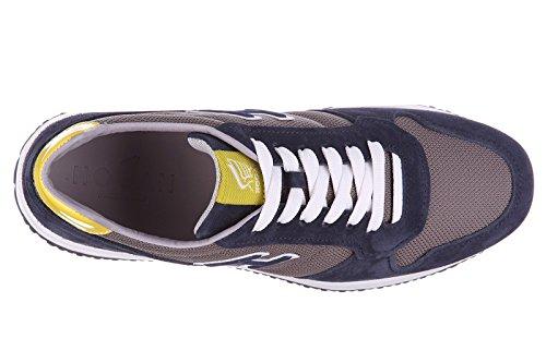Hogan chaussures baskets sneakers homme en daim interactive n20 h flock blu