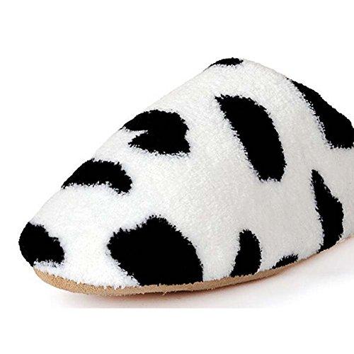 Pattern padded Women Indoor Cow Lovers Coral Fleece Slippers Men Floor Slippers Cotton Shoes ww7I0qO