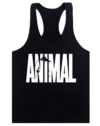 MITIAO Mens Animal Stringer Bodybuilding Workout Tank Tops Y-Back Shirt