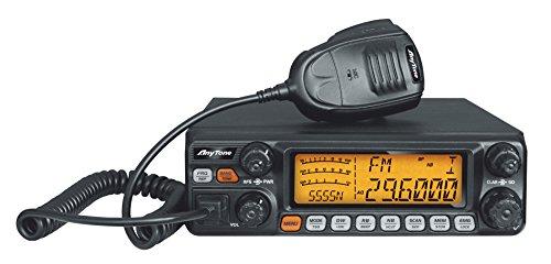 AnyTone AT-5555N CB Mobile Radio/Transceiver 10 Meter Radio wth SSB/FM/ AM /PA mode, Frequency 28-29.7MHZ 40 CH,Power Output 12W AM,30W FM,30W SSB by AnyTone