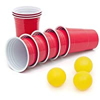 50 Stück Rote Partybecher Trinkbecher 16 oz Rote Beer Pong Party Cups...