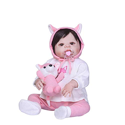 Maserfaliw Reborn Doll, Cute Vivid Realistic Lifelike Vinyl Silicone Baby Reborn Doll Kids Sleeping Toy, Birthday Gifts, Home, Travel.