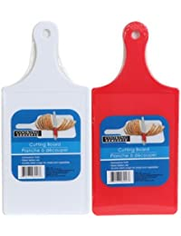 CheckOut 2-Pack Plastic paddle-style cutting boards offer
