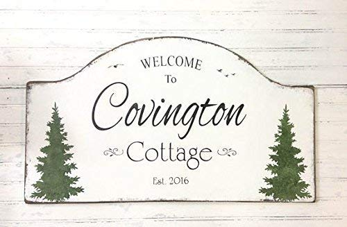 weewen Personalized Custom Cottage Sign Retirement Party Getaway Cottage Holiday Beach House House Plaque Lake River Or Mountain Cabin 61 X 35.6 cm Decorative Wooden Sign