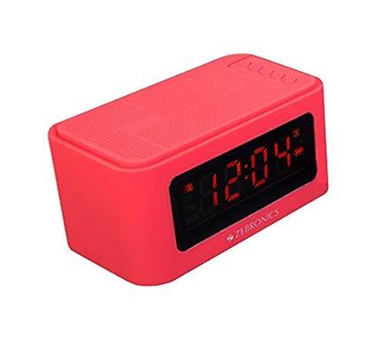dca9dd5f604 Zebronics ZEB-CLOSIC2 Portable Bluetooth Wireless Speaker with Alarm Clock  (Red)  Amazon.in  Electronics