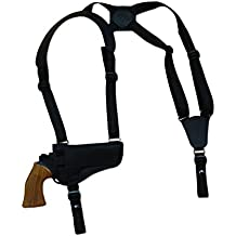 "New Barsony Horizontal Shoulder Holster for 4-5"" .38 .357 .41 .44 Revolvers"