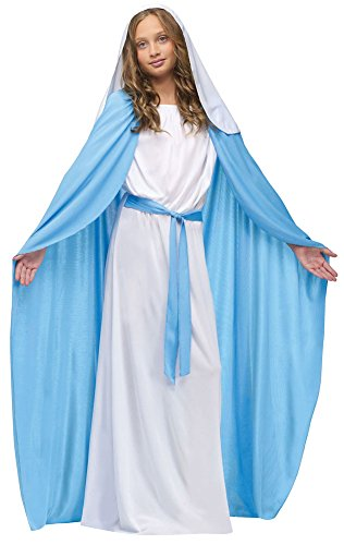 Mary Halloween Costumes (Girls Halloween Costume- Mary Kids Costume Medium 8-10)