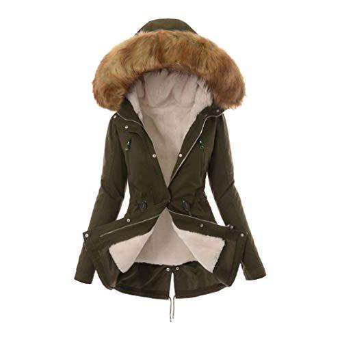 Cappotto donna autunno di Giacca con cappuccio Yunhou grandi cardigan invernale con Cappotto da dimensioni addensato cerniera 5wzqqOxXg