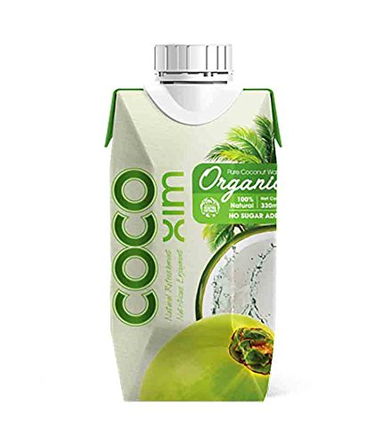 COCOXIM Organic Pure Coconut Water, USDA Certified Organic, Non-GMO, All Natural - 11.2 once (330ml), (Pack of 12)