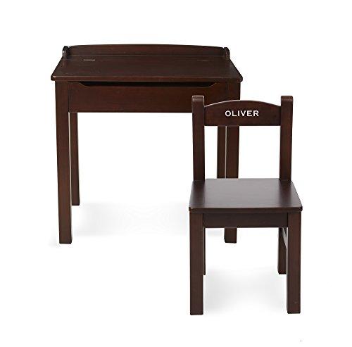 Childrens School Desks - Melissa & Doug Personalized Wooden Lift-Top Desk & Chair Children's-Desks, Espresso