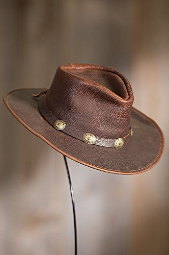 Overland Sheepskin Co Raging Bull Leather Cowboy Hat by Overland Sheepskin Co (Image #3)